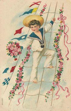 Vintage Sailor Boy Postcard