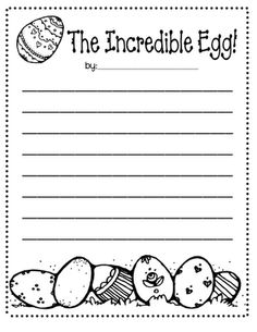 """Read """"The Easter Egg"""" then have students retell the story in their words or write about an incredible egg."""