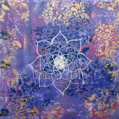 violet mandala sky ©Louise Gale mandala artist courses
