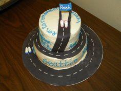 Seattle Rock n Roll Marathon Cake  Wearblueruntoremember.org #wearblue @wbr2r
