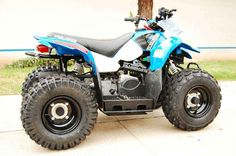 New 2015 Polaris Outlaw® 50 ATVs For Sale in California. Parent-adjustable speed limiter Children age 6 or older with adult supervision Other: - Notes: YOUTH Models (Phoenix, Sportsman, Outlaw) ATVs can be hazardous to operate and are not intended for on-road use. The Polaris 50-cc ATV model is intended for operators ages 6 and over, 90-cc ATV models are intended for operators ages 10 and older, and the 200-cc ATV is intended for operators age 14 and older. All Polaris youth vehicles require…