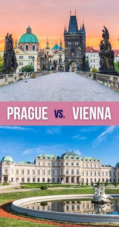 Can't decide between Prague and Vienna for your next cultural endeavor? This comparison of Prague vs Vienna will help you pick the best destination for you. | Prague or Vienna for Vacation | Should I Go to Prague or Vienna | Vienna vs Prague | Vienna or Prague | Vienna and Prague European Travel Tips, European Vacation, European Destination, Road Trip Europe, Europe Travel Guide, Travel Destinations, Travel Inspiration, Travel Ideas, By Train