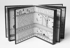 Jody Williams, United States Quintessential Questions Book of hinged, constructed boxes, colour etching on handmade paper, mixed media, text by artist, edition of 40.