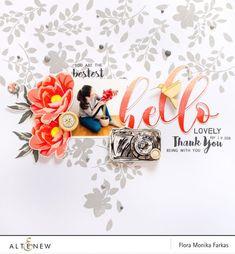 Floral Layout with Altenew Stamps   Altenew Scrapbook   Bloglovin'