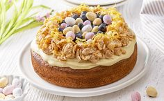 Easter Nest Lemon & Blueberry Cake