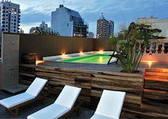 Modern swiming pool terrace