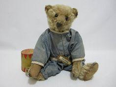 "STEIFF Antique Teddy Bear w Blank Button 12"" Dressed w Judge Pin $1,095"
