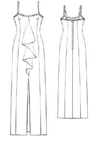 #5210 Dress with decorative collar