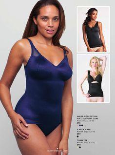 Ruby Ribbon Shapewear - Sheer Full Support, V Neck Lace Cami & Torsette www.rubyribbon.com/karenmitura
