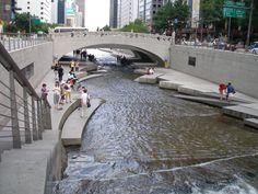 ChonGae Sunken Stone Garden Opens Up an Underground River in Seoul