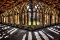 Durham Cathedral cloisters - where I was when I heard about a family bereavement,and a more peaceful, soothing place doesn't exist.