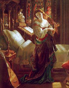 """Daniel Maclise (1806-1870) """"Madeline after Prayer"""""""