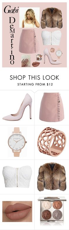 """""""Gabi DeMartino (look at description)"""" by cianna3 ❤ liked on Polyvore featuring Chicwish, Olivia Burton, Tartesia, NLY Trend, Adrienne Landau and Chantecaille"""