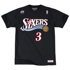 99afa3eda9f9 Allen Iverson Philadelphia 76ers Mitchell Ness Black Traditional TShirt  Large    Read more at the