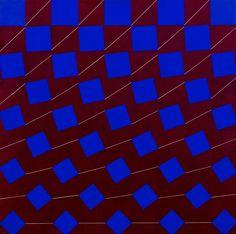 Matti Kujasalo: Sininen neliö punaiselle, 1976, öljy kankaalle, 90x90 cm - Bukowskis F170 Helene Schjerfbeck, Op Art, Finland, Contemporary Art, Auction, Romantic, Artist, Artists, Romance Movies