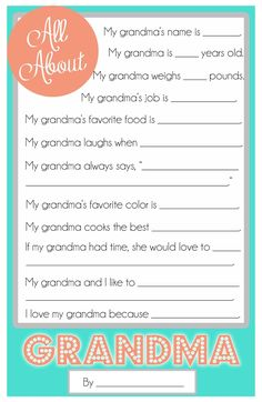 Wonderous cheap gift ideas for grandparents day baby gift mothers day questionnaire a free printable for the kids cupcake diaries grandparent gift idea negle Gallery