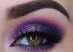 Purple Eyeshadow Looks, Purple Makeup Looks, Black Eye Makeup, Bold Eye Makeup, Purple Smokey Eye, Purple Eye Makeup, Makeup Eye Looks, Colorful Eye Makeup, Eye Makeup Art