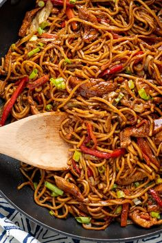 Chinese Egg Noodles Recipe, Chinese Noodle Recipes, Easy Chinese Recipes, Asian Recipes, Chicken And Egg Noodles, Chicken Noodle Recipes, Asian Noodles, Chicken Spaghetti, Spaghetti Recipes