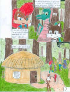 Sonic and the Freedom Fighters Ep.1 Pg.7 by SHREKRULEZ on DeviantArt Sonic Satam, The Freedom, Freedom Fighters, Deviantart, Painting, Painting Art, Paintings, Painted Canvas, Drawings