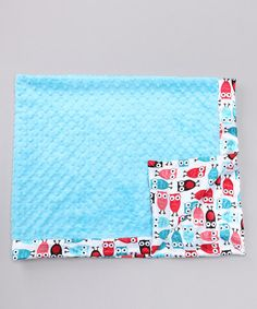 Take a look at this Turquoise Night Owl Minky Toddler Blanket by Bebe Bella Designs on #zulily today!