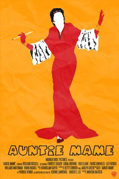 Auntie Mame Retro Minimalist Poster by thenewmessiah on Etsy, $9.50