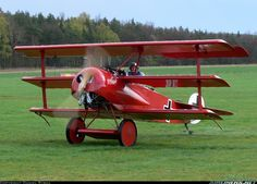 The Fokker Dr.I Dreidecker (triplane) was a World War I fighter aircraft built by Fokker-Flugzeugwerke. The Dr.I saw widespread service in the spring of 1918. It became renowned as the aircraft in which Manfred von Richthofen gained his last 19 victories, and in which he was killed on 21 April 1918.
