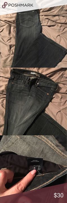 Express jeans 👖 dark New without tags express best jeans ever ! Fit and bottoms flares out Express Jeans Boot Cut