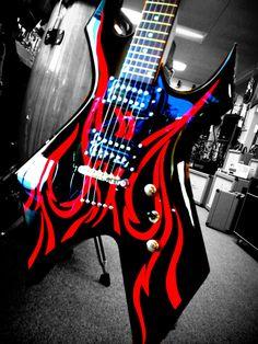 Metal Master Kerry King Signature B. Guitar Art, Music Guitar, Cool Guitar, Bc Rich Guitars, Kerry King, Instruments, Cool Electric Guitars, Extreme Metal, Custom Guitars