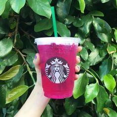 12 Best Starbucks Iced Drinks To Refresh Yourself Strawberry Acai, Starbucks Strawberry, Healthy Starbucks Drinks, Secret Starbucks Drinks, Pink Drinks, Fruit Drinks, Beverages, Pink Starbucks, Breakfast
