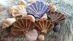 Crochet Motif Ravelry: Scallop Shell Motif pattern by Loren G - Crochet Seashell Applique, Crochet Shell Pattern, Baby Mermaid Crochet, Crochet Fish, Manta Crochet, Freeform Crochet, Knit Or Crochet, Crochet Animals, Crochet Motif