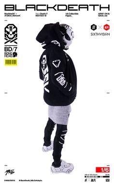 SIXTHVISION 1/6 コレクティブルフィギュア BONEHEAD ブラック・デス[GLITCH]【送料無料】《04月仮予約》
