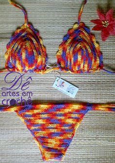 Biquíni em Crochê, by Dê Artes em Crochê.