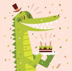 Colorful birthday composition with lovely style Free Vector