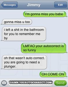 Not an Autocorrect!