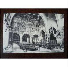 Switzerland Lugano Chiesa degli Angeli church interior vintage Photoglob postcard art