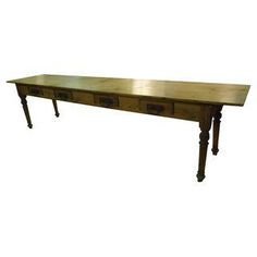Knotty Pine Harvest Table