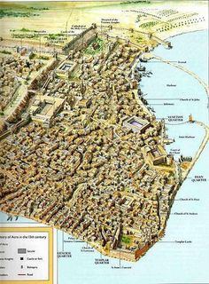 City of Acre, defended and lost by the Hospitallers in the 13thC.