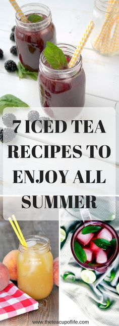 Iced teas are a summer essential, especially when they are homemade. Here are some of my favourite recipes from various bloggers that are sure to make you want to sip all summer long!