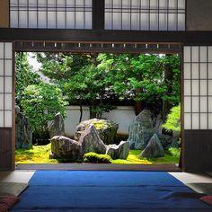 Kyoto, Mirei Shigemori, 1896-1975. Notable landscape gardiner, working in a…