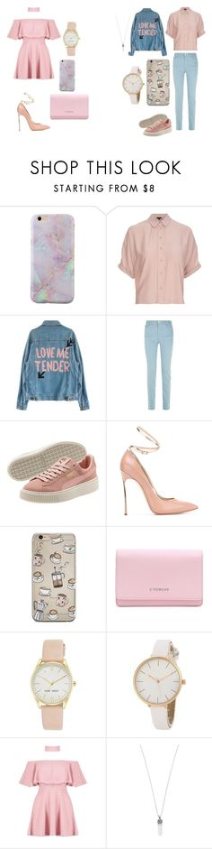 """""""S + M (Matching)"""" by caitlinkansil on Polyvore featuring Topshop, Armani Jeans, Casadei, Givenchy, Nine West, Boohoo and Marc Jacobs"""