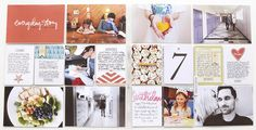 layer white cardstock over / around / under journal cards to make room for more journaling in project life/pocket page layouts | Ali Edwards