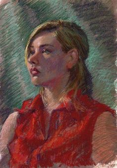pastel art lesson - so beautiful! her secret is a watercolor wash under the chalk