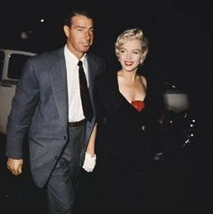 Marilyn Monroe and husband Joe DiMaggio on their way to El Morocco nightclub, NYC, to have dinner with Milton and Amy Greene, September 12th 1954.