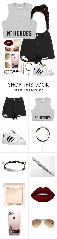 """""""Wall around my crib like i'm Donald Trump."""" by the-world-is-crazy-so-am-i ❤ liked on Polyvore featuring Boohoo, adidas, Lacey Ryan, Ona Chan, Jouer, Lime Crime, Casetify, Ray-Ban and Belk & Co."""