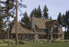 If you're like me and come from a place that's almost nothing but rocks, sticks and wilderness, what's not to love about the Montclair? Oh, and did I mention that it has a spiral staircase and library?! *swoon* View the floorplan at http://www.precisioncraft.com/loghomeplans/FrenchCountry/Montclaire.html