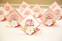 place markers... Easily made with any wedding color... If you think you might want them, I'll make them & bring them.