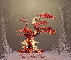 """See more on IG @the_flame_tree. Measures 2.5""""x3"""", (6.35cm,7.62cm) made with fiery red new copper and driftwood. (03092018)"""