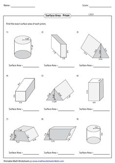 Surface Area of Mixed Shapes | 6th Grade Math | Pinterest ...