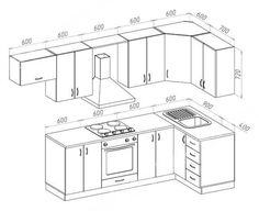 55 800 r. Kitchen Cabinets Drawing, Kitchen Drawing, Modern Kitchen Cabinets, Kitchen Furniture, Furniture Stores, Kitchen Cabinet Layout, Furniture Design, Kitchen Room Design, Kitchen Sets