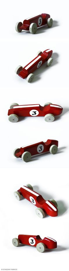 © STASZAK Fabrice 2014 Vintage car toy. Wood car toy.